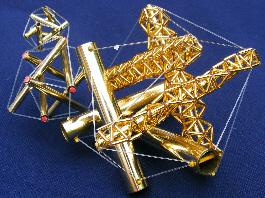 brass tensegrity model